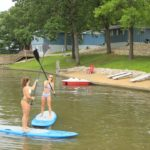 Paddle boards at Adventure Boat Rentals & Sunset Beach